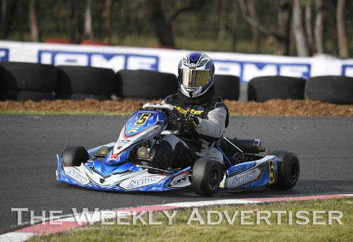 Image - Ashley Mitchell, KA3 senior medium.Round four of the Victorian Country Series at Wimmera Kart Club  at Dooen.