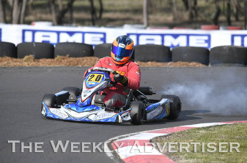 Image - Remo Luciani, KA3 senior medium.Round four of the Victorian Country Series at Wimmera Kart Club  at Dooen.