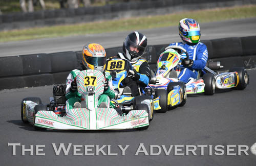 Image - Jack Bell, #37, and Nicholas Trebilcock, #86.Round four of the Victorian Country Series at Wimmera Kart Club  at Dooen.