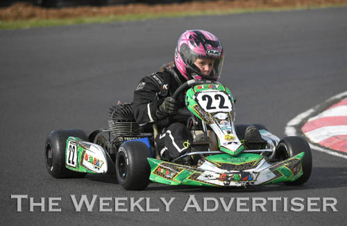 Image - Darcie Landrigan, Horsham.Round four of the Victorian Country Series at Wimmera Kart Club  at Dooen.