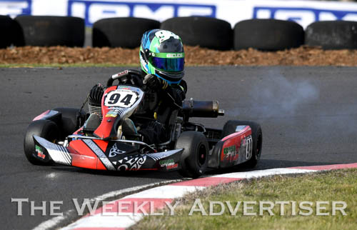 Image - Kobi Williams, KA4 junior light. Round four of the Victorian Country Series at Wimmera Kart Club  at Dooen.