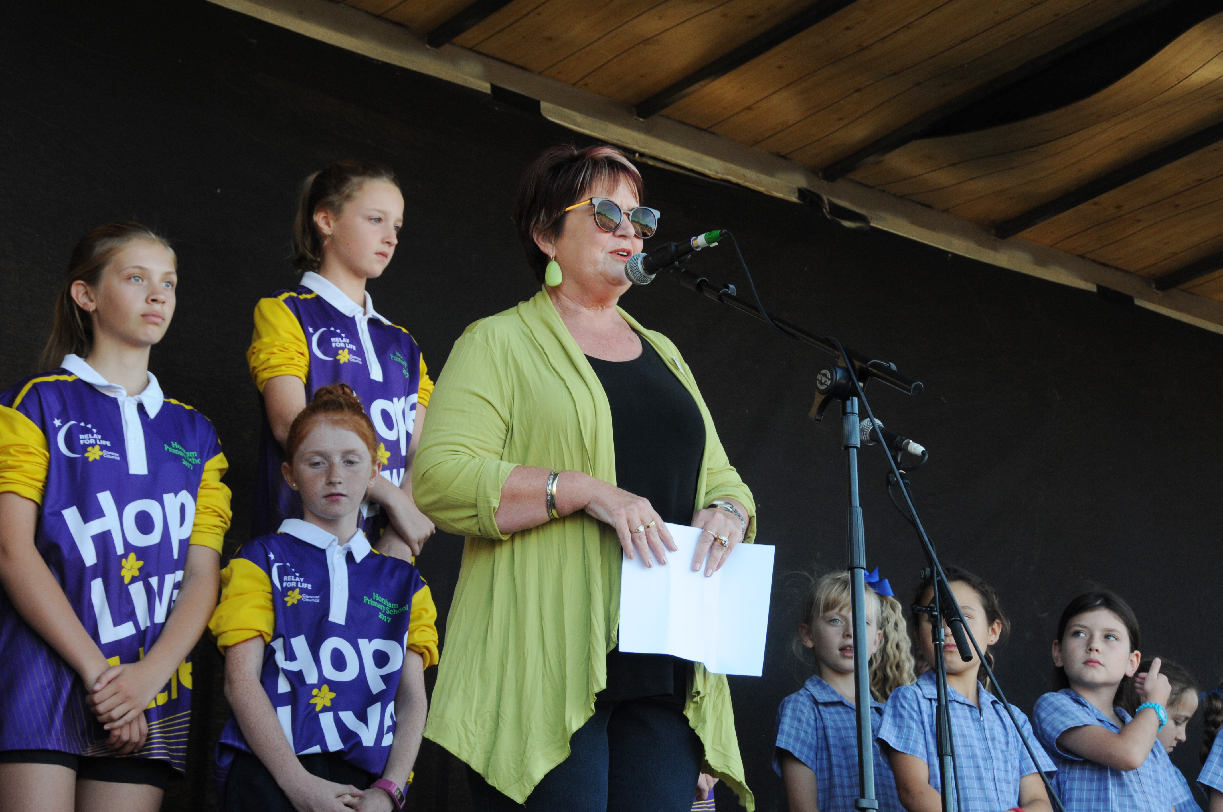 Image - Horsham and District Relay for Life, 170317. Mayor Pam Clarke