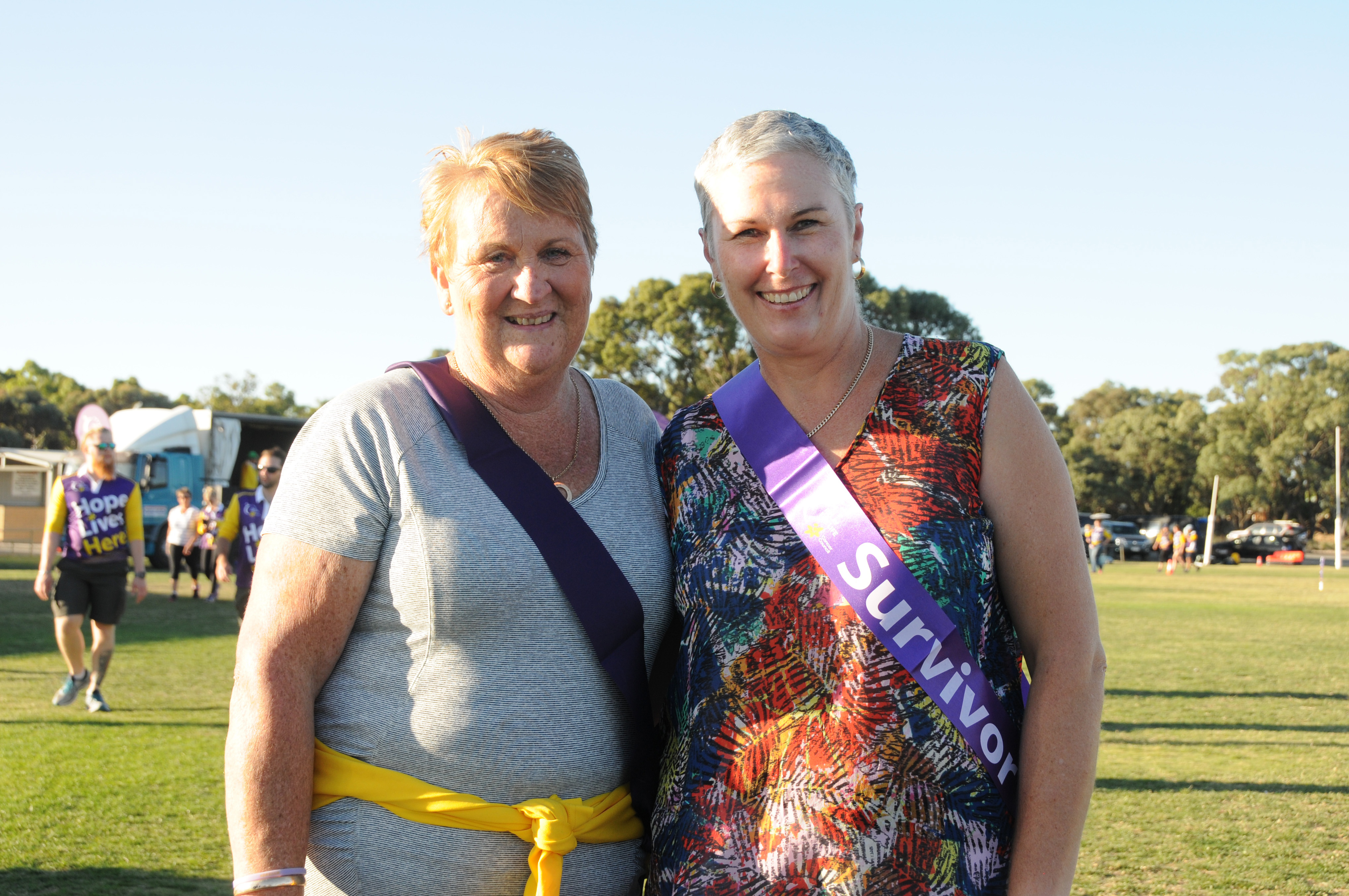 Image - Horsham and District Relay for Life, 170317. Sharon Dumesny and Joy Williams of Horsham.